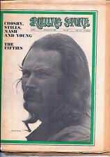 Rolling Stone Magazine #44 (Oct. 18, 1969) David Crosby, Muddy Waters, The Band