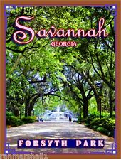Savannah Georgia Forsyth Park United States America Travel Advertisement Poster
