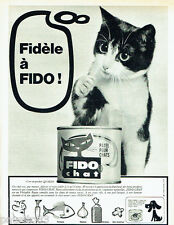 PUBLICITE ADVERTISING 016  1965  FIDO  CHAT    la patée en nb