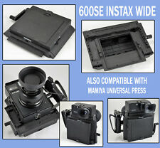 Fuji INSTAX WIDE Holder Back Mamiya Universal Press MUP or Polaroid 600SE Camera