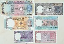 """EXTREMELY RARE INDIA OLD CURRENCY """"6 NOTES SET"""" IN GEM UNC..........."""