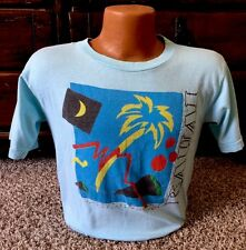 Vintage 80's Poly Tees Kauai Hawaii Blue T Shirt Size M