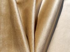 60's 70s VINTAGE Fabric Short Pile Fur Upholstery Grade Beige Light Brown Velvet