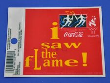 Coca Cola Coke Aufkleber USA Sticker Decal - Olympia 96 - I saw the flame