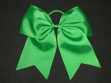 "NEW ""GREEN"" Cheer Bow Pony Tail 3 Inch Ribbon Girls Hair Bows Cheerleading"