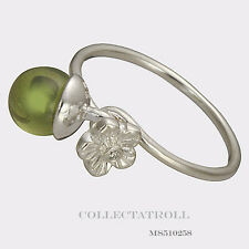 Authentic TrollBeads Sterling Silver Elderflowers Bud Ring Size 52