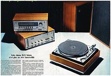 Publicité Advertising 1968 (2 pages) La Chaine Hi-Fi Stereo Philips