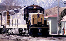 Santa Fe SD24 diesel locomotive train railroad postcard AT&SF