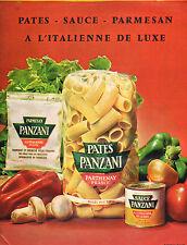 Publicité 1964  PATES PANZANI