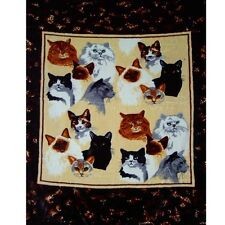 "Brand New Cat Collage 79"" x 95"" Super Plush Faux Mink Blanket"
