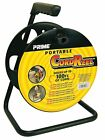 Prime Wire CR003000 Portable 100' Black Extension Cord Storage Reel