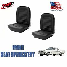 1964 &1965 Mustang Front Bucket Seat Upholstery Black Vinyl  by TMI-IN STOCK!!