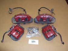 2005 2006 Pontiac GTO 6.0L LS2 RED Brake Calipers Front & Rear UPGRADE OEM 3B0