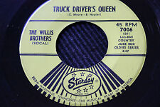 "BOBBY SYKES 45rpm ""Diesel Smoke"" & WILLIS BROTHERS ""Truck Drivers Queen"" Starday"