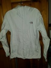 Women's THE NORTH FACE HyVent DT Rain Coat Hooded Jacket Size S Small WHITE