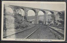 Postcard LANESBORO Pennsylvania/PA  Old Stone Viaduct Bridge view 1910's