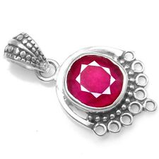 3.65 Grams Fine 925 Sterling Silver Natural Blood Red Ruby (GF) Pendant Jewelry