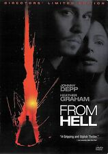 From Hell ~ Heather Graham Johnny Depp Director's Limited Edition 2-Disc DVD dts