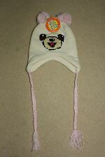 NEW Okutani Baby Toddler Pilot Cap White Bear Cover Ears Knit Hat