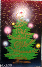 1983 Russian folding NEW YEAR card Christmas tree with different lights and star
