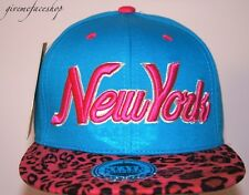 New York Leopard Snapback caps, NY dope flat peak baseball fitted hats kappe