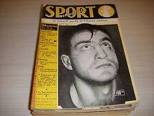 SPORT MONDIAL 013 03.1957 BOXE HUMEZ ATHLETISME CROSS FRANCAIS FOOT VIGNAL