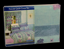 Ashley POLY COTTON PERCALE KING QUILT COVER DUVET DOONA SET + 2 PILLOW CASES