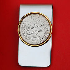 US 2006 Nevada State Quarter BU Uncirculated Coin Two Toned Money Clip New