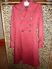 Daks Signature red belted trench coat size 36