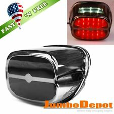 US LED Brake Taillight w/License Plate Lamp For Harley Fat Boy Road King Touring