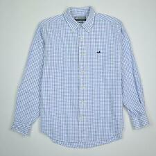 Southern Marsh The Mallard Tattersall Checks White Blue Shirt Men's Size S