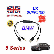 BMW 5 Series Audio Cable For Samsung Galaxy, HTC, Blackberry, LG, Nokia Sony