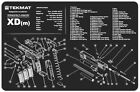 Springfield XD(m) Armorers Gun Cleaning Bench Mat Exploded View Schematic Parts