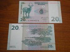 Congo  -   20  Cent  #83    unc