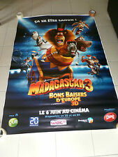 AFFICHE CINEMA ROULEE - MADAGASCAR 3 - PREVENTIVE - 120x160