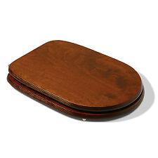 Sedile wc tavoletta compatibile Sintesi Cesame colore noce arte povera legno MDF