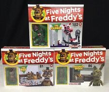 Five Nights At Freddys FNAF McFarlane Building LOT Closet Bed Security Office
