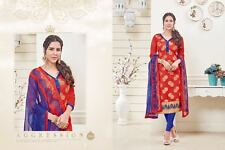 Designer Churidar Banarasi Suit Salwar Kameez Dress Material Unstitched 3008
