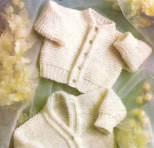 Premature Baby Cardigan Knitting pattern in DK- easy knit