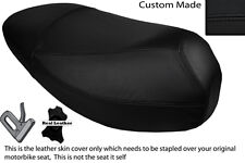 BLACK STITCH CUSTOM FITS MALAGUTI CIAK 50 DUAL LEATHER SEAT COVER ONLY