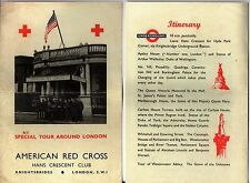 WW2 - Programme SPECIAL TOUR AROUND LONDON organisé par AMERICAN RED CROSS