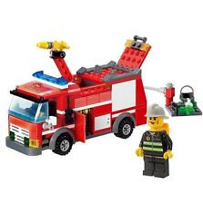 Fire Fighter Truck 206pc Building Blocks Kit Child Puzzle Construction Brick Toy