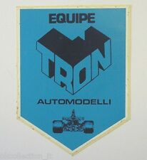 VECCHIO ADESIVO / Old Sticker AUTO MODELLISMO EQUIPE TRON (cm 9 x 11)