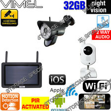 IP Cameras Wireless Home Security 720P System CCTV Surveillance Alarm GSM Phone
