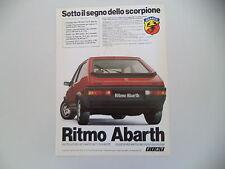 advertising Pubblicità 1982 FIAT RITMO ABARTH 125 TC