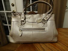 Coach pewter Penelope pebbled leather tote/shoulderbag , H1085-F14686 EUC
