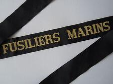 FUSILIERS MARINS Ruban légendé Marine France Cap Tally ORIGINAL