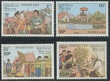 LAOS N°986/989** Nouvel An Lao, 1990 New Year's Day Sc#994-997 MNH