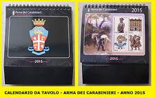 CALENDARIO DA TAVOLO - ARMA DEI CARABINIERI - ANNO 2015