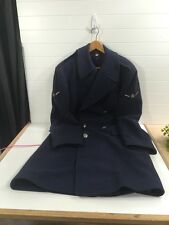 US ARMY AIR FORCE OVERCOAT WOOL TRENCH COAT BLUE 37L KOREAN WAR W ARM PATCHES.